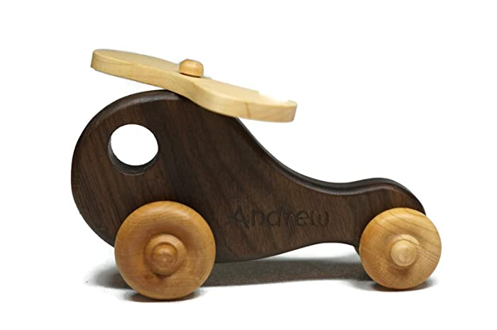 Push Toys Wooden Toddler Toys Hajito Wooden Helicopter Infant Toys