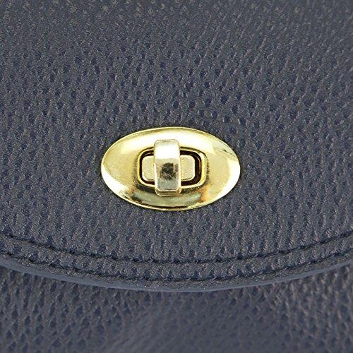 Eleery New Fashion Women Messenger Bag PU Leather Shoulder Bag Crossbody Bag Handbag (Black) Blue