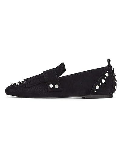 5d26bf182a059 Zara Femme Mocassins en Cuir à Clous 3866 001  Amazon.fr  Chaussures ...