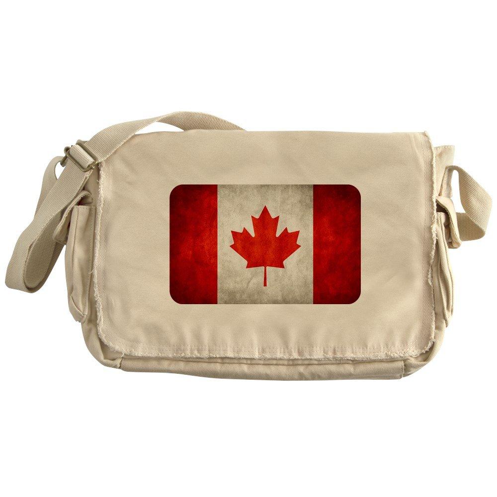 Royal Lion Khaki Messenger Bag Canadian Canada Flag Grunge