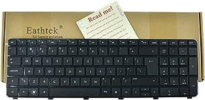 Eathtek Replacement Keyboard with BIG Enter for HP Pavilion DV7-6000 DV7-6100 DV7t-6000 DV7t-6100 DV7t-6B00 DV7t-6C00 DV7-6C21NR DV7-6C22NR DV7-6C67NR DV7-6C80US series Black US Layout