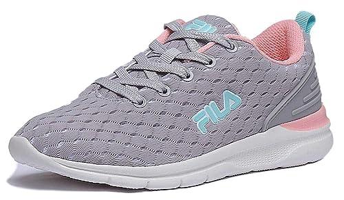 870c84fa51326 Scarpe donna FILA sneakers in tela grigio rosa 1010335-3JW  Amazon.it  Scarpe  e borse