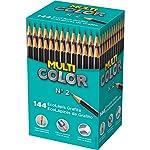 Lapis Preto Redondo Multicolor Super Eco N.2 - Caixa com 14 Faber Castell, Multicor