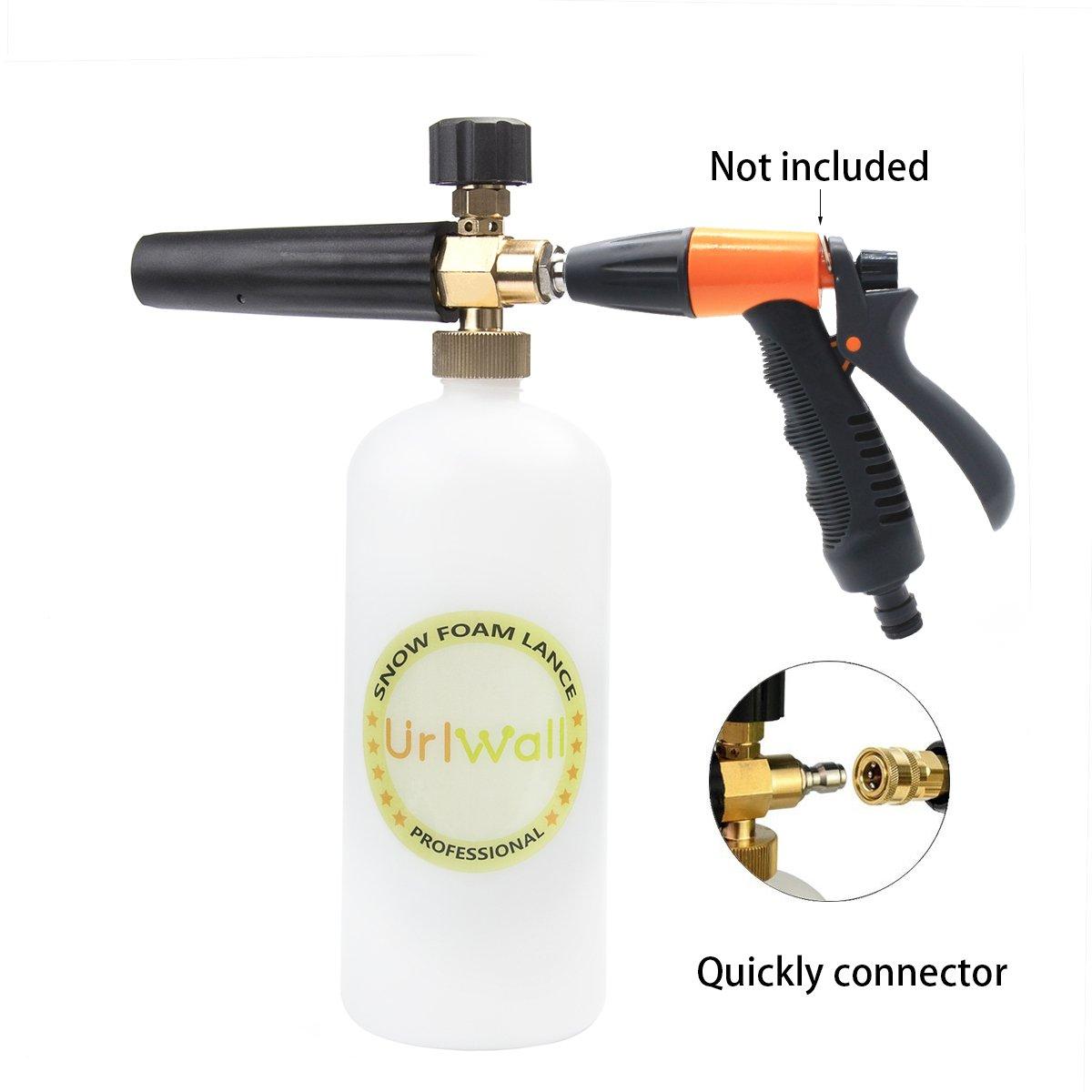 Adjustable Foam Cannon, URLWALL 1 Liter Car Wash Pressure Bottle Snow Foam Lance With 1/4 Quick Connector Foam Blaster for Pressure Washer Gun by URLWALL (Image #4)