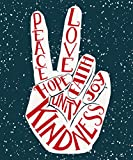 ShineSnow Two Fingers Peace Love Garden Yard Flag 12'' x 18'', Gay Pride Outdoor Indoor Decorative Double Sided Flags for Spring Summer Farm House Decoration