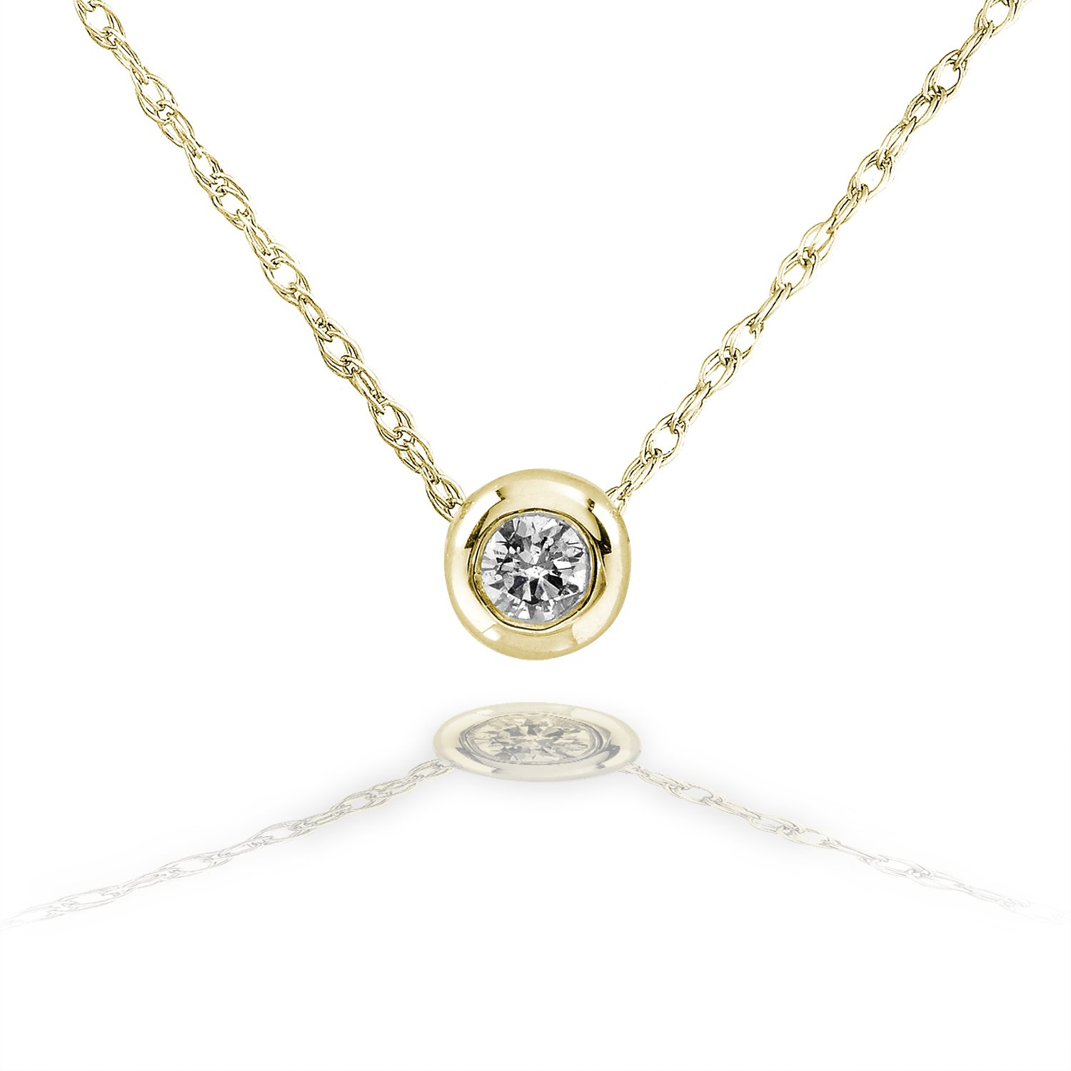 simulated white diamonds gold solid ct life glamour brilliant diamond necklace products solitaire heart pendant cut