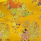 G087 coupon de tissu de brocart soie au broderie fine - par mètre - Patchwork couture F