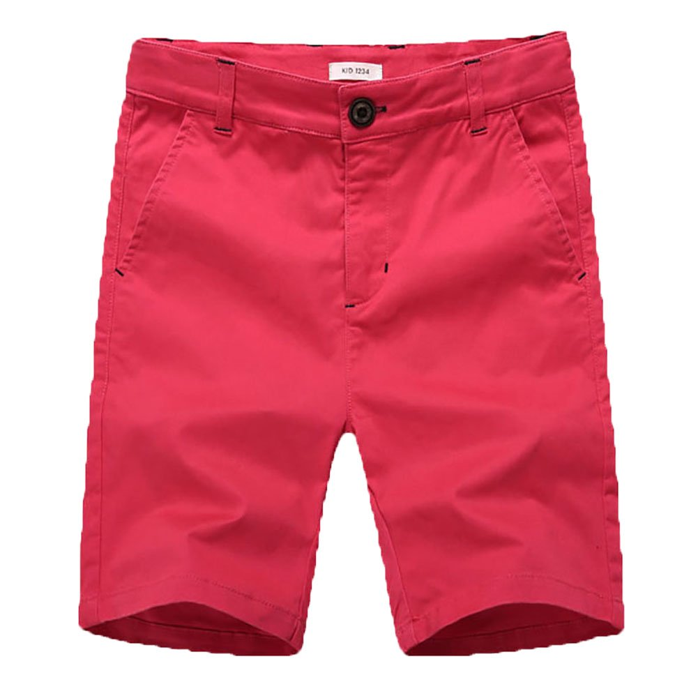 KID1234 Boys' Cargo Shorts Cotton Adjustable Waist Casual with Four Pockets