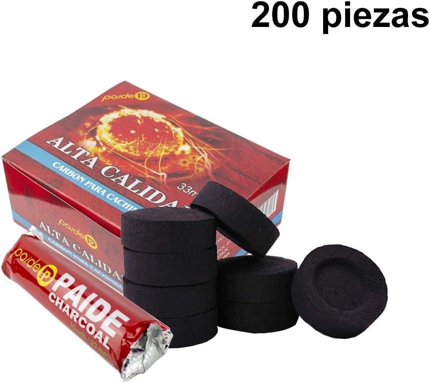 [Pack] rollos de carbón para cachimba, shisha, hookah, narguile e incensario (200)