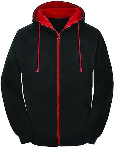 AWDis Unisex Varsity Hoodie Contrast Hood Men Ladies Classic Warm Sweatshirt New