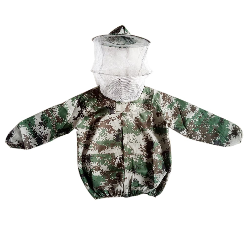 Flameer Beekeeping Jacket Veil Bee Keeping Suit Hat Smock Protective Equipment, lightweight and cool for hot weather Camo2 by Flameer