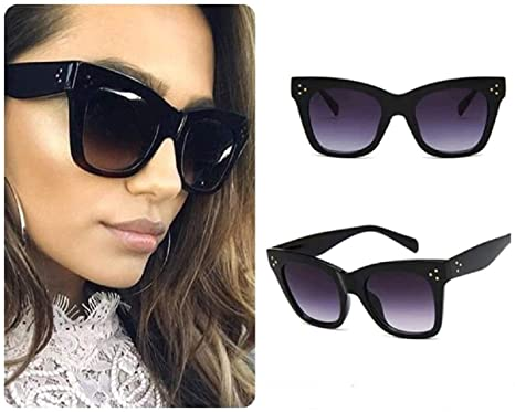 356dec74c Cat Eye Women Ladies Sunglasses Oversized Retro Vintage Aviator Reflective  IBIZA UK: Amazon.co.uk: Clothing