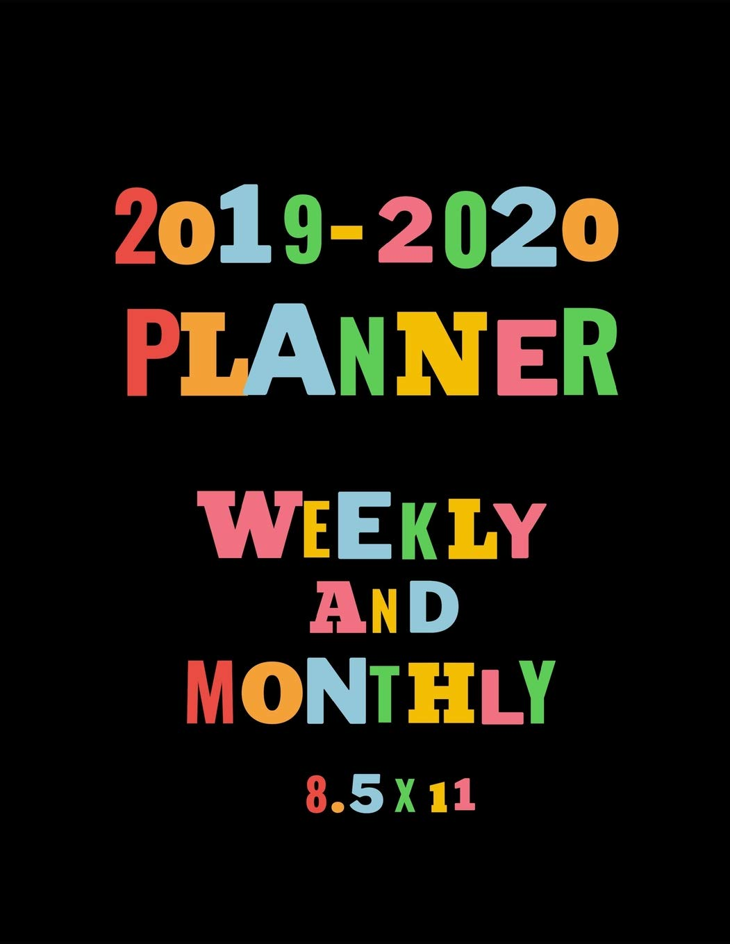 2020 Year In Review.2019 2020 Planner Weekly And Monthly 8 5 X 11 Word Theme