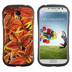 Suave TPU GEL Carcasa Funda Silicona Blando Estuche Caso de protección (para) Samsung Galaxy S4 I9500 / CECELL Phone case / / Floral Autumn Maroon Green Red /