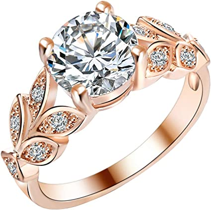 ELEGANT OVAL CUBIC ZIRCON GOLD FILLED WOMEN/'S LADY WEDDING JEWELRY RING BLING