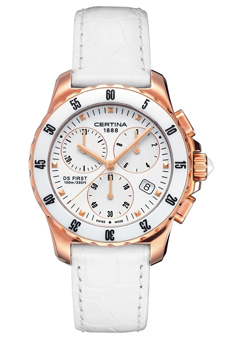 Amazon.com: Certina - Wristwatch, Quartz Chronograph, Leather, Women: Certina: Watches