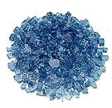 Cheap American Fireglass 1/2″ Pacific Blue Fire Glass, 20 lb. Bag