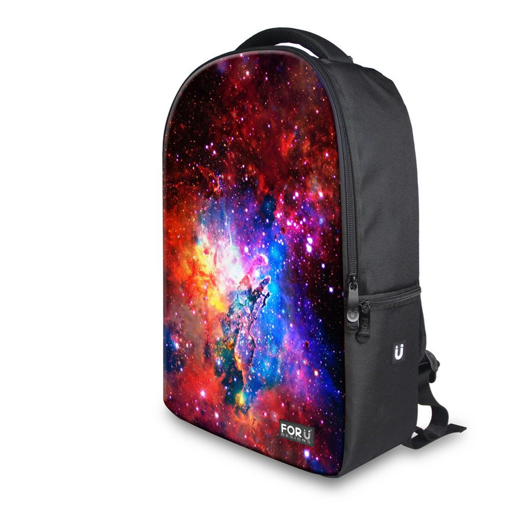 4f024f6c74b FOR U DESIGNS 18 Inch Galaxy Print Casual School Backpack Outdoor Travel  Bag for Men and Women