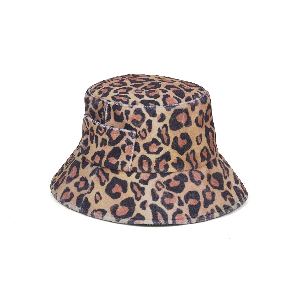 Lack of Color Women's Wave Terrycloth Bucket Hat (Leopard, Medium/Large) by Lack of Color