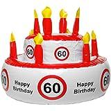 Aufblasbare Geburtstagstorte 60