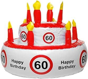 Unbekannt Hinchable Tarta de cumpleaños para Varios Redondo número cumpleaños