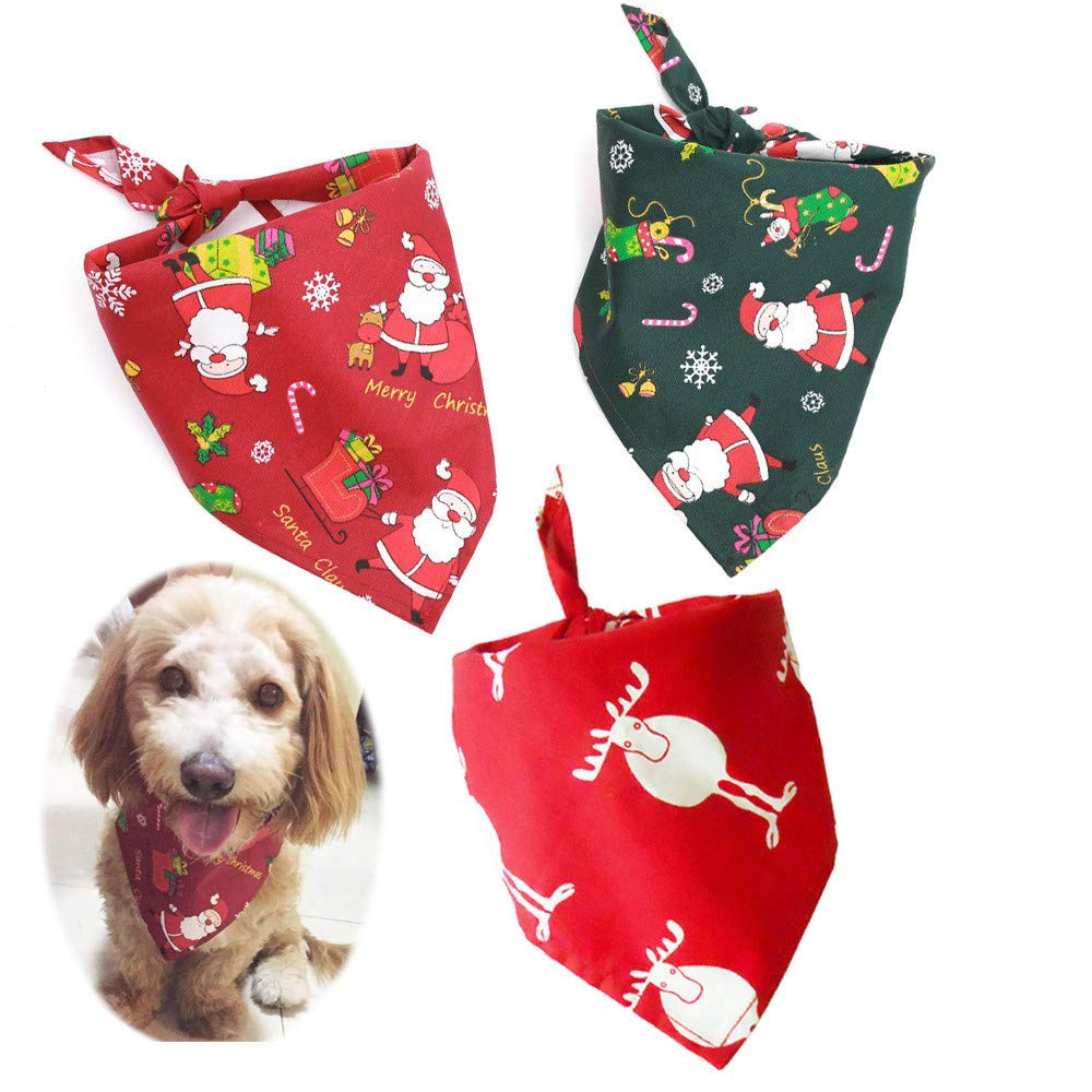 Glumes Clearance Dog Scarf, Christmas Holiday Dog Neckerchief Saliva Towl Puppy Cat Bandana Scarf Pet Costume for Dog Cat Kitty