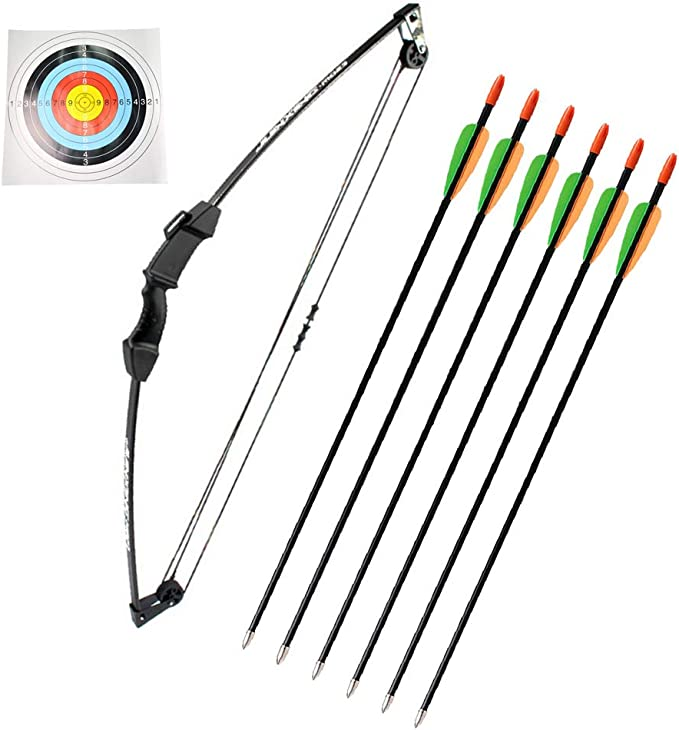 "Armex 50/"" Whizzkids Youth Adult Family Recurve KIT 20Lbs Arrows Archery SET"