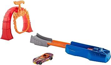 LanceurJouet Piste Voitures FlammesCoffret Lancement Avec Circuit De Pour Jeu Hot Wheels EnfantFth81 Et L'anneau Petites 80PXnwkO
