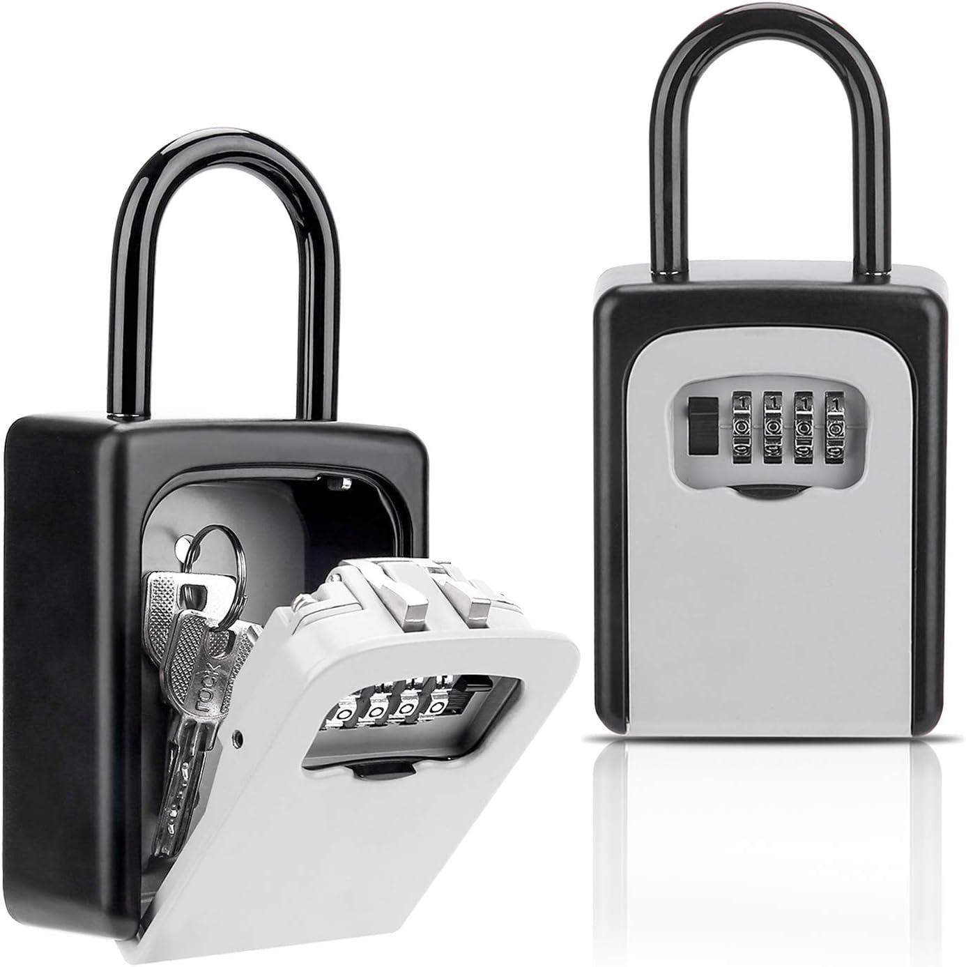 Amazon.com: Key Lock Box, Combination Lockbox with Code for House Key  Storage, Combo Door Locker: Electronics