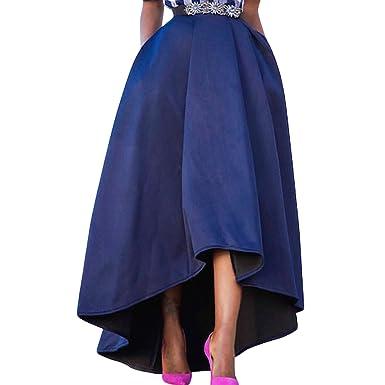 92a96a781df Semen Femme Robe Skit Longue Haute Vintage Fille Jupe Longue Plissée Haut  Bas Chic Rétro Robe de Soirée  Amazon.fr  Vêtements et accessoires