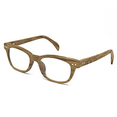 73831464646 Seymour and Smith Yaletown Yew Reading Glasses for Men and Women (Blonde  Wood