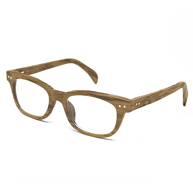 65093fa964 Seymour and Smith Yaletown Yew Reading Glasses for Men and Women (Blonde  Wood