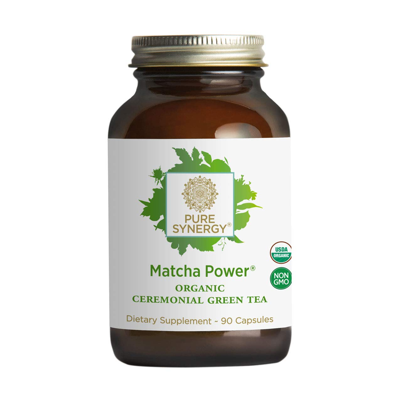 Pure Synergy USDA Organic Matcha Power (90 Capsules) Ceremonial Japanese Green Tea Convenient Capsules by Pure Synergy
