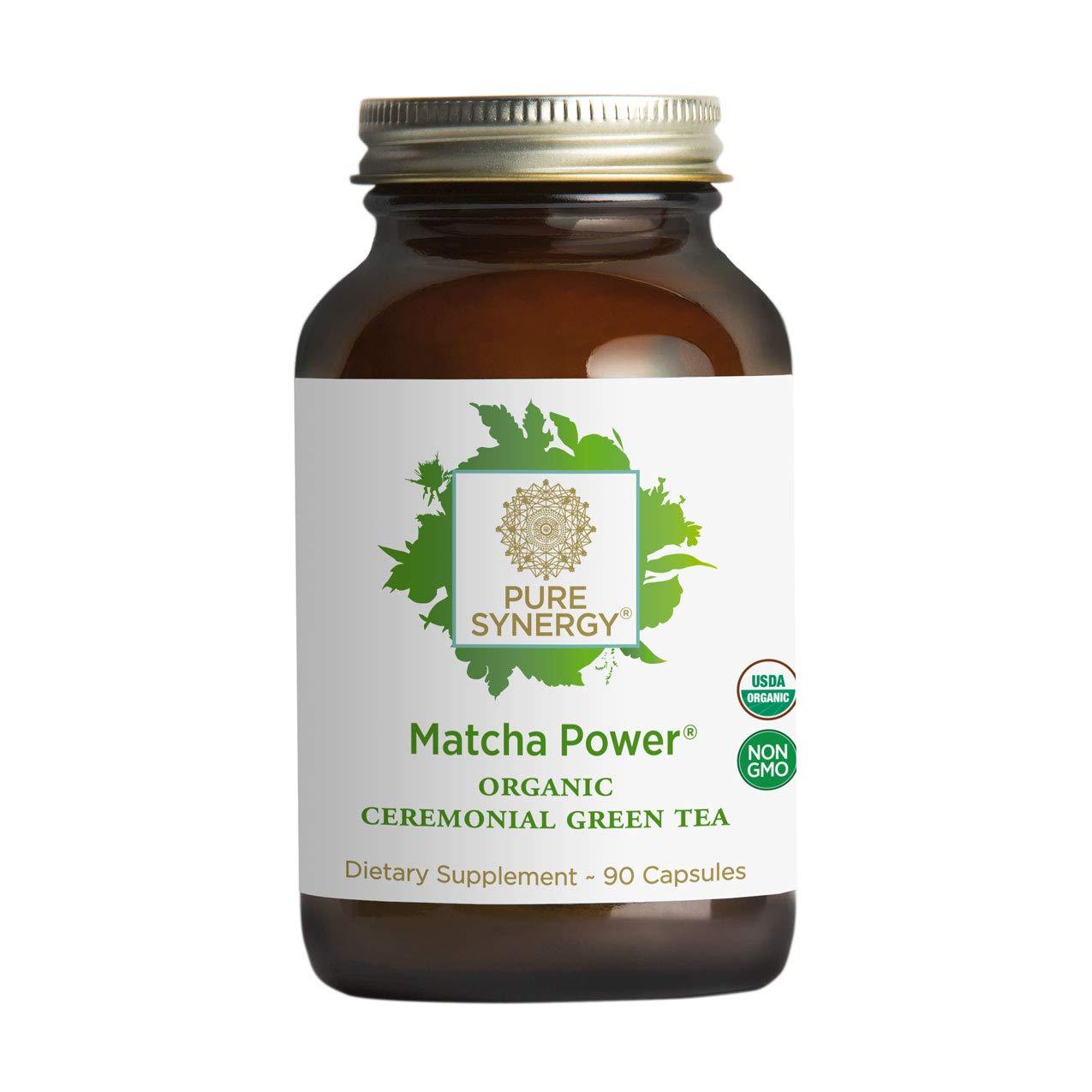 Pure Synergy USDA Organic Matcha Power (90 Capsules) Ceremonial Japanese Green Tea Convenient Capsules