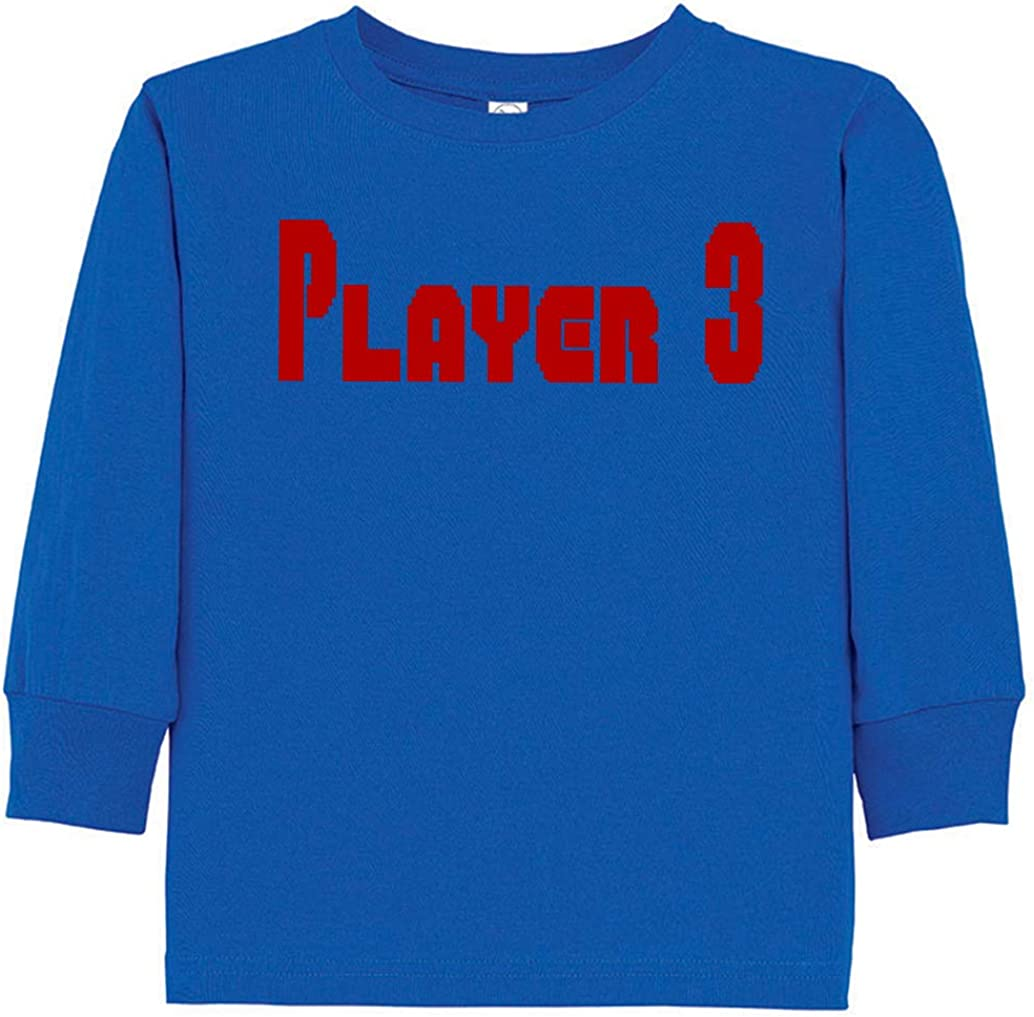 Tenacitee Toddlers Super Player 3 Long Sleeve T-Shirt