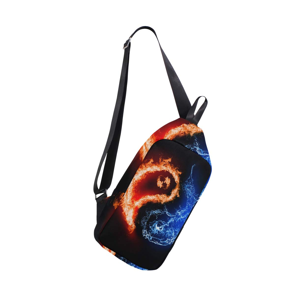 AHOMY Fire /& Ice Taiji Messenger Bag Small Travel School Sling Bag Crossbody Bag