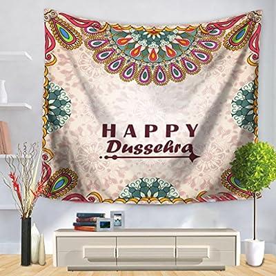 LLP LM Decoracióx Pared Hippie Tapices Toalla de Playa,Tapiz Inglés Oraciones Cortas Folk-Custom Patrón Impresión Colgar en la Pared Decoración