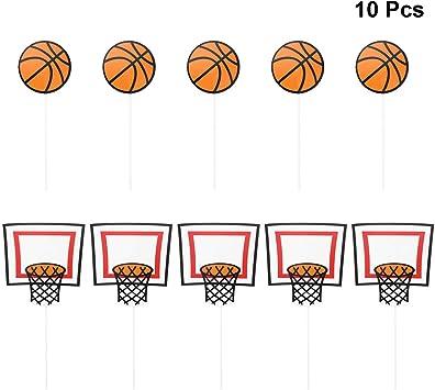 BESTOYARD 10 Unids Basketball Cake Toppers Cumpleaños Basketball ...