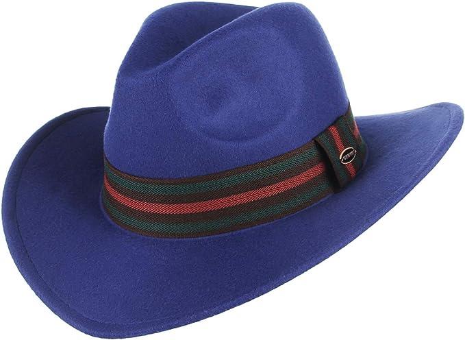 Cappello Fedora Vintage Feltro Uomo Donna Cappello Panama Tesa Larga Con Fibbia