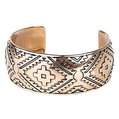 e4c6bdc1dfa Turquoise Skies TSKIES: Bracelets for Women Bronze Bracelet Thick Cuff  Jewelry for Women with an