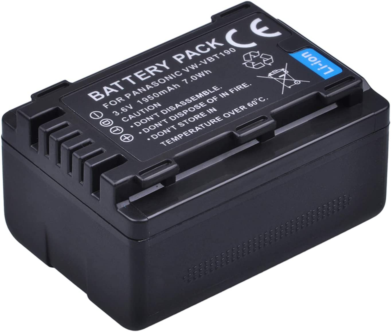 HC-W858 Full HD Camcorder Battery 2 Pack and Dual Battery USB Charger for Panasonic HC-W570 HC-W585 HC-W580 HC-W850
