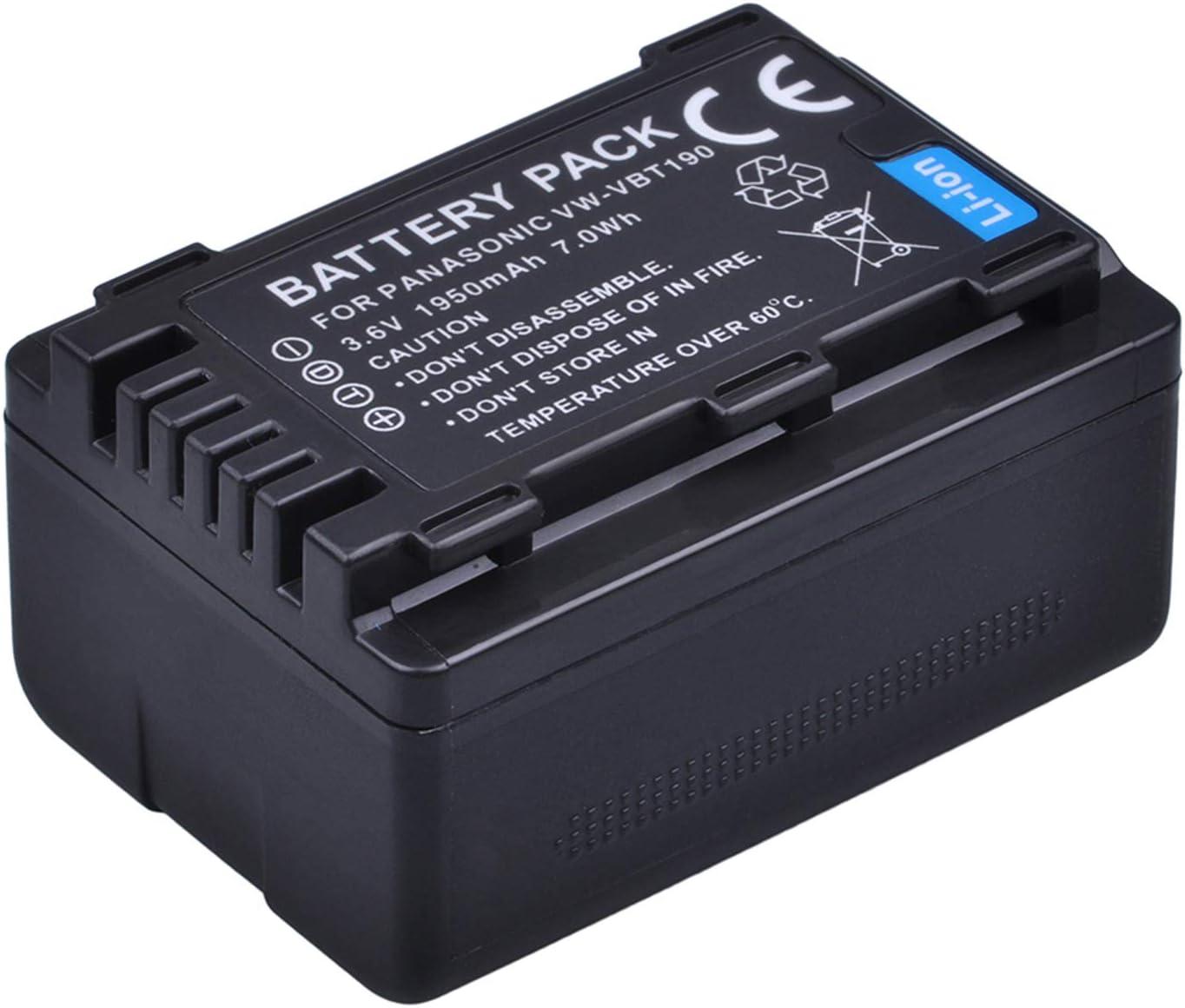 HC-V800EE Battery Pack for Panasonic HC-V750M HC-V770EE HC-V770EP-K Full HD Camcorder HC-V750MK HC-V770MK