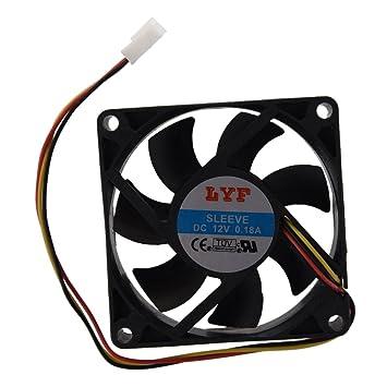 SODIAL(R) Ventilador de Refrigeracion Enfriador para PC Ordenador Portatil 70mm x 25mm CC 12V 2W 3 Pin: Amazon.es: Electrónica