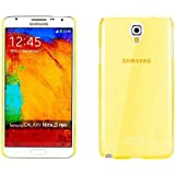 Snoogg Samsung Galaxy Note 3 Neo AirIce Series Super Thin Soft TPU silicon Cover in Yellow
