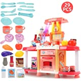 ICDOT Simulation Kitchen Toys, Children's Play House Kitchen Toy Set, Girls Cooking Rice Tableware Toy With Sound And…