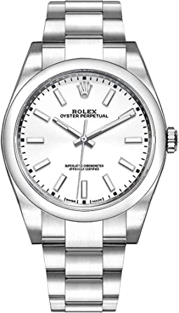 1a6737c68383 Image Unavailable. Image not available for. Color  Men s Rolex Oyster  Perpetual 39 White Dial Watch ...