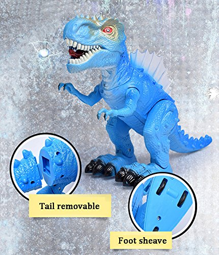T-Rex Electronic Walking Dinosaur with Flashing Lights and Realistic Animal Sounds (Blue) by Vabliss (Image #5)