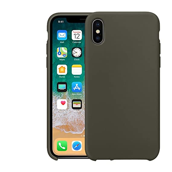 the latest 83a40 b22e4 iPhone X Case, HONTECH Ultra Thin Liquid Silicone Gel Rubber Cover with  Soft Microfiber Cloth Lining Shockproof Shell for Apple iPhoneX iPhone 10  ...