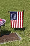 "Evergreen Flag Black Iron Cemetery Garden Flag Stand - 15""W x 28""H"