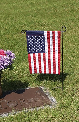 "(Evergreen Flag Black Iron Cemetery Garden Flag Stand - 15""W x 28""H)"